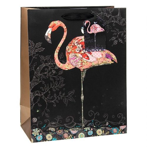 Bug Art Collection Pink Flamingo Medium Gift Bag